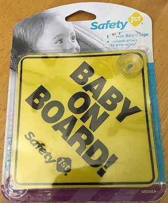 New Safety 1st Baby On Board Sign  48918A