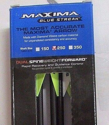 """Carbon Express ~ Maxima Blue Streak Arrows ~ 6 Pack ~ 33"""" ~ New ~ Ships Free"""