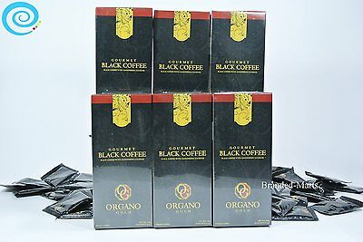 6 boxes Organo Gold Black Coffee.