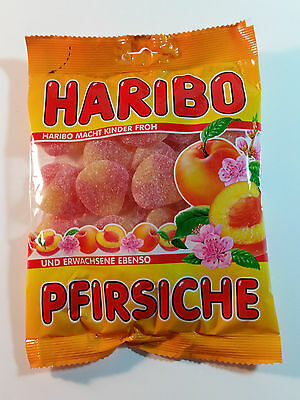 HARIBO PFIRSCHE  - CANDY WINE GUMS 7oz - 200g - MADE IN GERMANY -
