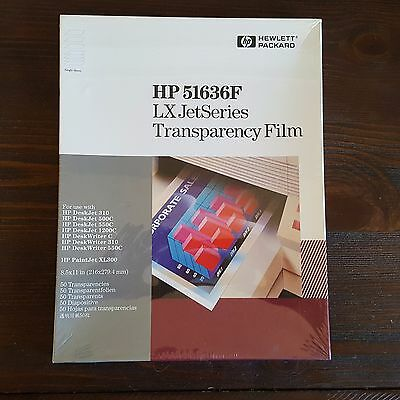 """HP 51636F LX JetSeries Transparency Film 8.5"""" x 11"""" New Sealed 50 Sheet Pack"""