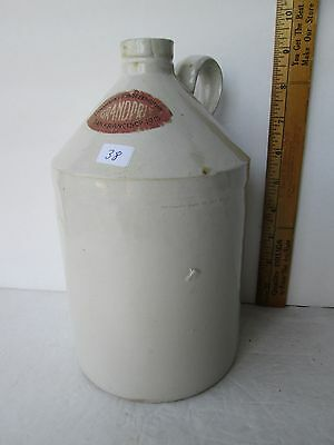 Antique Labeled San Francisco Whiskey Pottery Jug