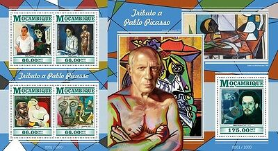 Z08 Imperforated MOZ15429ab MOZAMBIQUE 2015 Pablo Picasso MNH Set