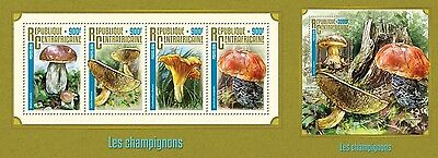Z08 IMPERFORATED CA16215ab CENTRAL AFRICA 2016 Mushrooms MNH Set