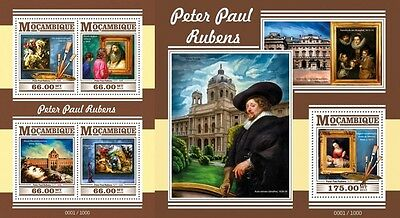 Z08 Imperforated MOZ15428ab MOZAMBIQUE 2015 Peter Paul Rubens MNH Set