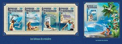Z08 IMPERFORATED CA16214ab CENTRAL AFRICA 2016 Cruise ships MNH Set