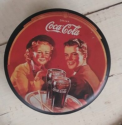 1988 Vintage Coca-Cola Coke Collectible Round Tin