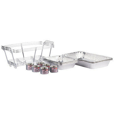 3 Full Size Disposable Buffet Serving Sets / Chafing Dish Kits