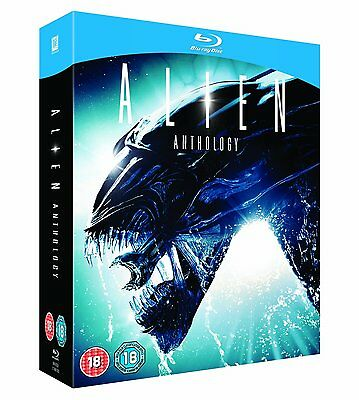ALIEN ANTHOLOGY BLU RAY BOX SET Part 1 Aliens 3 4 Resurrection Quadrilogy New UK