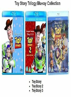 Toy Story Trilogy Blu Ray Triple Pack Part 1 2 3 Movie Film Brand New Uk Release