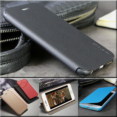 iPhone 8 & 7 Plus SLIM Ultra Thin Kick Stand PU Leather Wallet Flip Cover Case