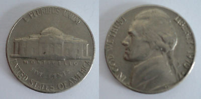 5 Five Cents Jefferson Nickel 1970 IN GOD WE TRUST LIBERTY UNITED STATES