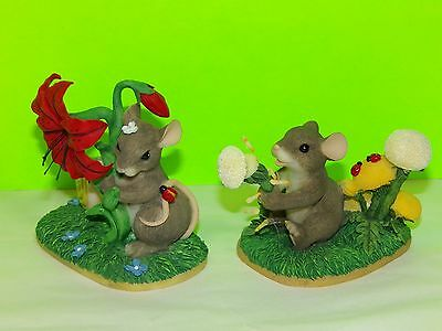 Charming Tails By Fitz And Floyd Dandelion Wishes And Peek A Boo In The Posies