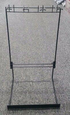 Retail Hangsell Counter Display Stand (Black) with Adjustable Height