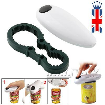 Automatic Electric One Touch Can Tin Bottle Opener No Hands Battery Operated UK