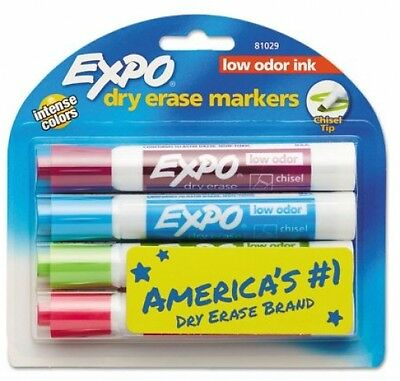 Expo Whiteboard Low Odor Dry Erase Markers Chisel Tip