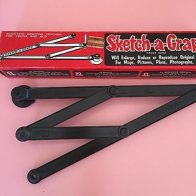 Vintage Sketch-a-Graph Drawing Tool Original Box Made In Australia