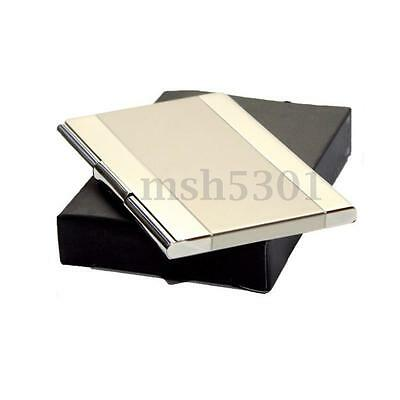 Portable Vogue Silver Metal Credit ID Business Name Card Case Box Holder New
