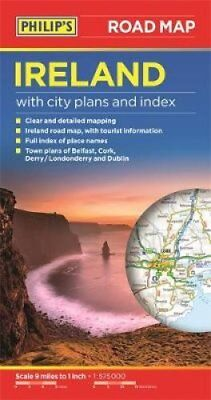 Philip's Ireland Road Map 9781849073592 (Paperback, 2015)