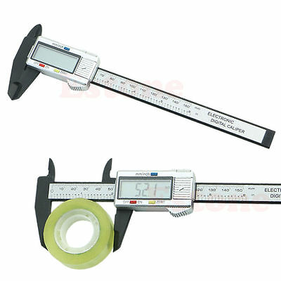 150mm 6inch LCD Vernier Caliper Digital Electronic Carbon Fiber Micrometer Gauge