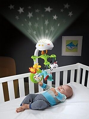 Baby 3 in 1 Deluxe Projection Mobile Newborn Musical Moving Projection Crib Toy