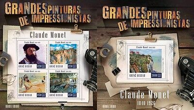 Z08 IMPERFORATED GB15807ab GUINEA-BISSAU 2015 Claude Monet MNH Set