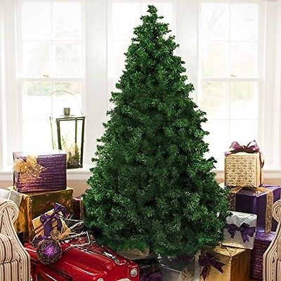 6ft Full Artificial Christmas Pine Tree Xmas Home Decorative w/ Solid Metal Legs