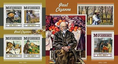 Z08 Imperforated MOZ15424ab MOZAMBIQUE 2015 Paul Cezanne MNH Set