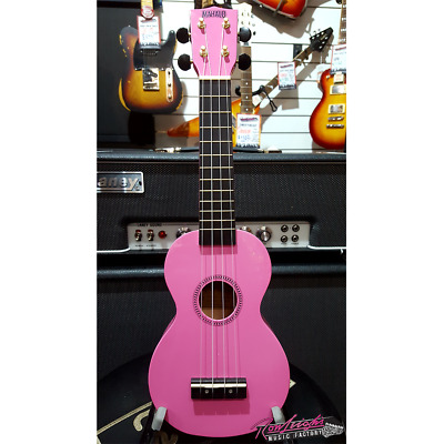 Mahalo MR1 Rainbow Series Soprano Ukulele with Bag and Headstock Tuner - Pink