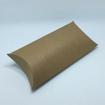 Kraft Paper Pillow-Shaped Packaging Box for Gift Wedding Party Favor
