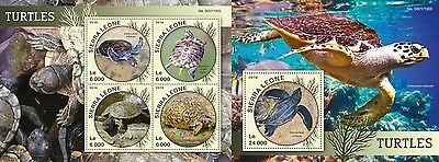 Z08 Imperforée SRL16109ab SIERRA LEONE 2016 Turtles MNH Jeu