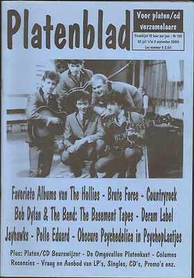 PLATENBLAD 123 HOLLIES Basement Tapes JAYHAWKS Polle Eduard BRUTE FORCE  Deram