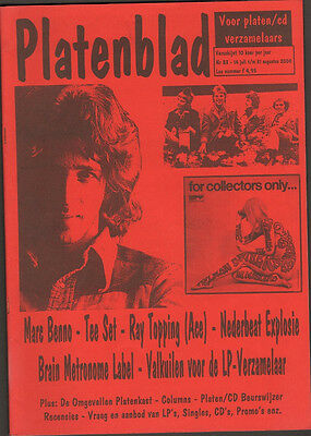 PLATENBLAD 83 MARC BENNO Ray Topping ACE Tee Set BRAIN METRONOME Nederpop