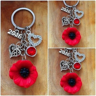 Equilibrium Silver Plated Accessories Poppy Key Ring 274405