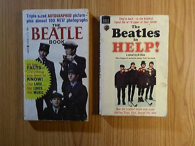 THE BEATLES 2 PAPERBACK BOOKS The Beatles in Help! 1965 & The Beatle Book 1964