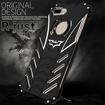 R-JUST Batman Shockproof Aluminum Bumper Case Cover For iPhone 7/7 Plus/8/X