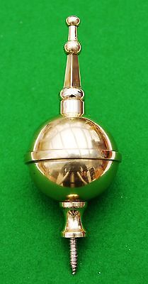 Brass ball and spire finial for antique Longcase clocks