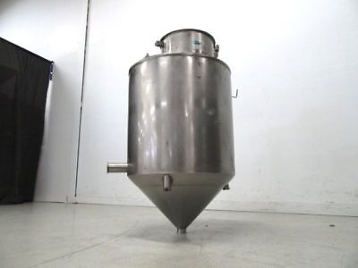 Reservoir Hopper Container Stainless Steel Cone Bottom Type Tank 300 Liters
