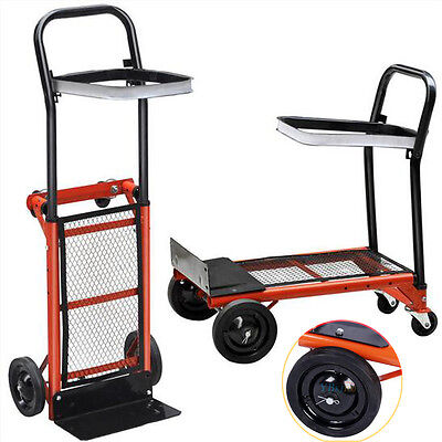 Heavy Duty Ndustrial Hand Trolley Foldable Truck Platform Cart For Store & Work