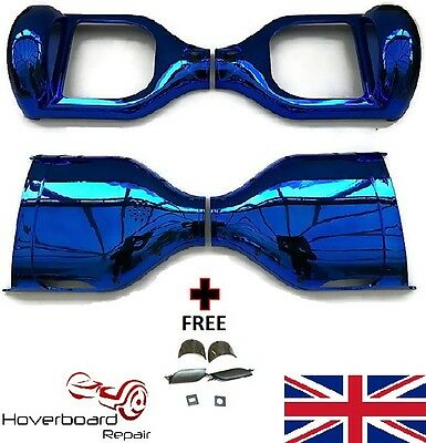 """Blue Chrome 6.5"""" Plastic Case Frame Replacment Shell For 6.5"""" Hoverboard Scooter"""