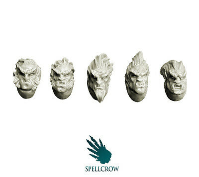 Spellcrow - Feral Wolves Knights Heads - WOLVES BITS