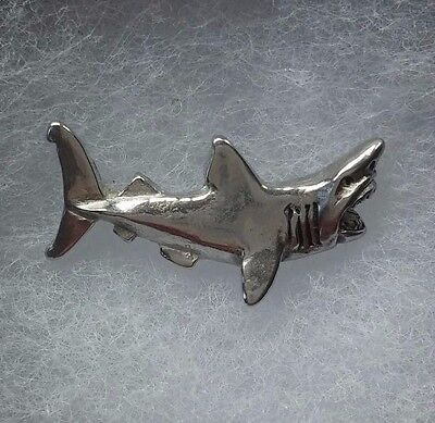 Shark Lapel pin made in Pewter