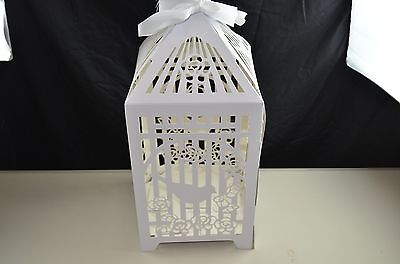 Large Tall Wedding Christening Celebration Butterfly Birdcage Card Post Box -New