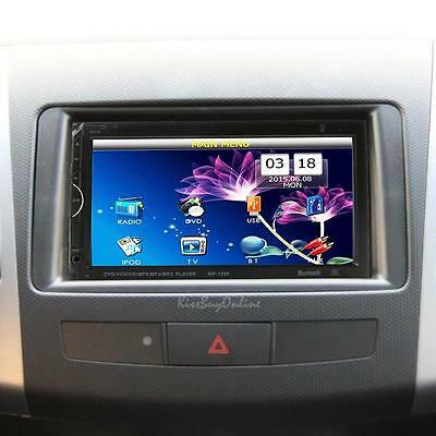 "7"" HD 2DIN Bluetooth Touch screen CD DVD Player Stereo MP3 AUX FM Radio USB Car"