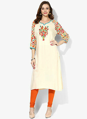 High Quality Rayon Printed & Embroidery Kurti Bollywood New Design Ethnic Style