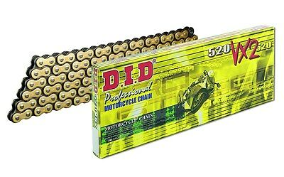 DID 520 VX2 120 Link Gold X Ring MX / Road Chain inc clip link joiner RRP $145
