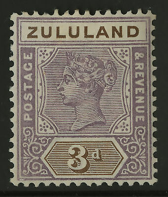 Zululand   1894-96    Scott #18   Mint Very Lightly Hinged Condition