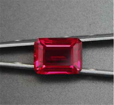 EXQUISITE 28.15CT PIGEON BLOOD RED RUBY 13x18MM EMERALD CUT AAAA+ LOOSE  GEMS