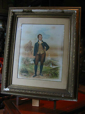 Robert Burns-Schottland-Scotland-im Rahmen-Lithographie-Lithography