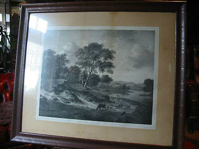 Landschaft-Wynants-Woelfjle-51 x 40 cm-im Rahmen-Lithographie-Lithography